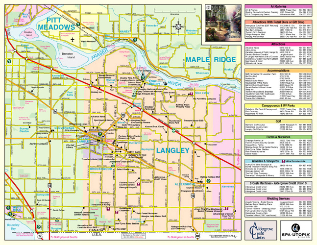 Official British Columbia Road Map
