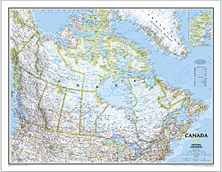 View all wall maps canada 38 x 32 this comprehensive canada wall map sciox Images